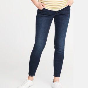 Old Navy Maternity Full Panel Skinny Jeans Dark
